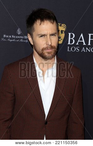 LOS ANGELES - JAN 6:  Sam Rockwell at the 2018 BAFTA Tea Party Arrivals at the Four Seasons Hotel Los Angeles on January 6, 2018 in Beverly Hills, CA