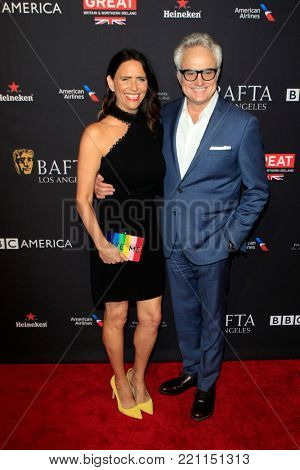 LOS ANGELES - JAN 6:  Amy Landecker, Bradley Whitford at the 2018 BAFTA Tea Party Arrivals at the Four Seasons Hotel Los Angeles on January 6, 2018 in Beverly Hills, CA
