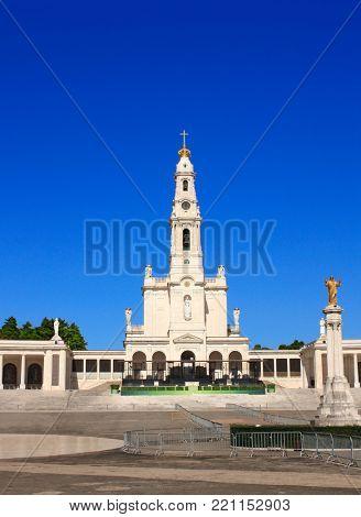 Sanctuary of Our Lady of Fatima and statue of Christ, Fatima, Portugal