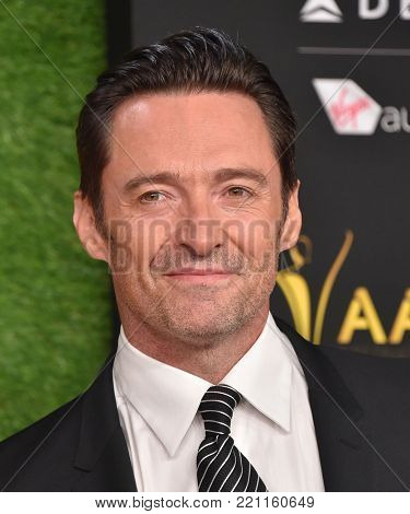 LOS ANGELES - JAN 05:  Hugh Jackman arrives for the 2018 AACTA International Awards on January 5, 2018 in Hollywood, CA