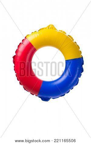 Life ring buoy isolated on white background