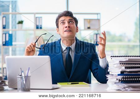 Businessman working in the office