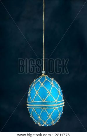 A Blue Hanging Christmas Ornament
