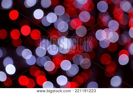 Bright unfocused bright color lights holiday background