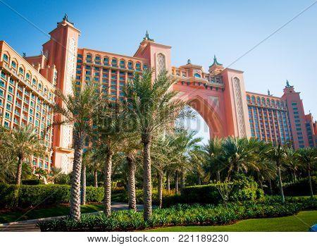 Cubai, Poland - 01 November 2014: grand Atlantis Hotel Dubai