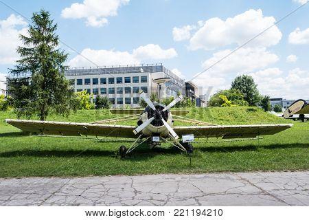Krakow, Poland - July 02, 2015: plane in Aviation Museum exhibition in Krakow