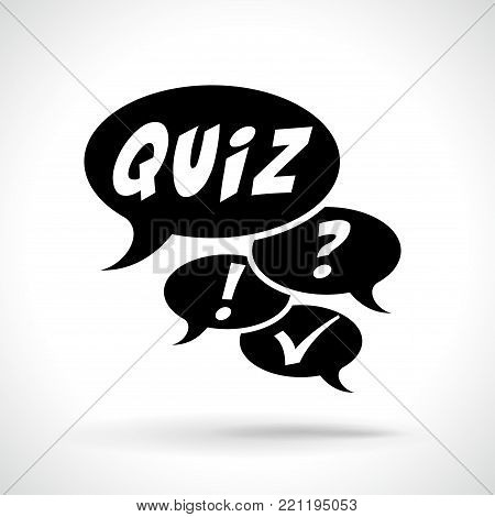Illustration of quizz icon on white background