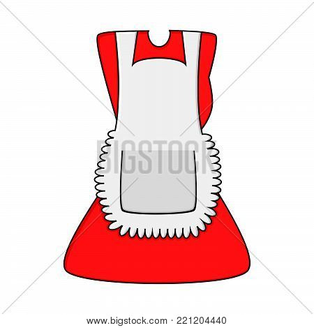 cartoon dress with pinafore isolated on white background.