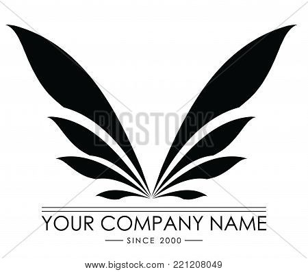 buterfly logo vector. illustration and conceptual logo wings. wings logo company. wings brand logo vector