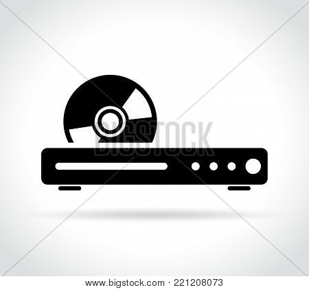 Illustration of blue ray or dvd player icon