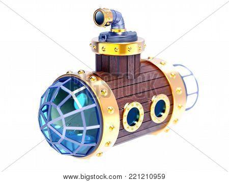 Old Wooden Submarine