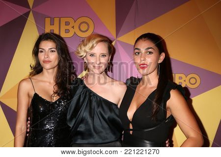 LOS ANGELES - JAN 7:  Sofia Pernas, Anne Heche, Natacha Karam at the HBO Post Golden Globe Party 2018 at Beverly Hilton Hotel on January 7, 2018 in Beverly Hills, CA