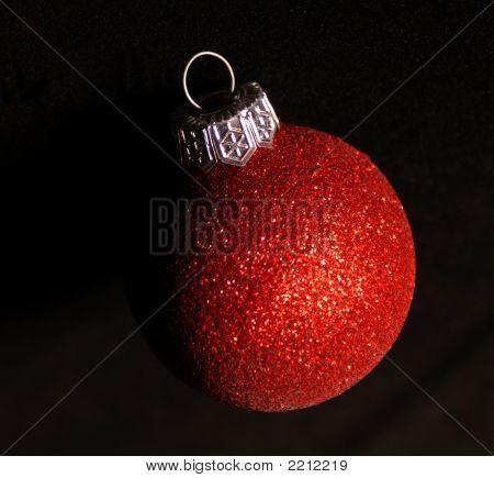 Red Glitter Ball