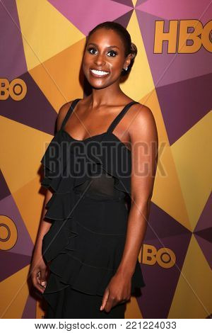 LOS ANGELES - JAN 7:  Issa Rae at the HBO Post Golden Globe Party 2018 at Beverly Hilton Hotel on January 7, 2018 in Beverly Hills, CA