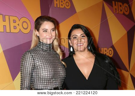 LOS ANGELES - JAN 7:  Shailene Woodley, Calina Lawrence at the HBO Post Golden Globe Party 2018 at Beverly Hilton Hotel on January 7, 2018 in Beverly Hills, CA