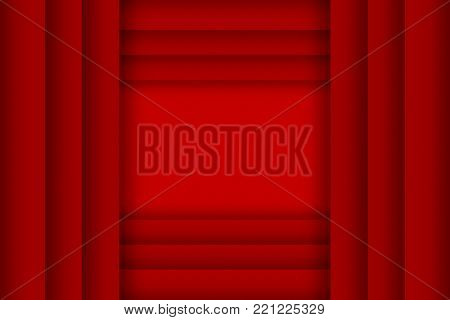 Illustration of lapping red paper design template background.