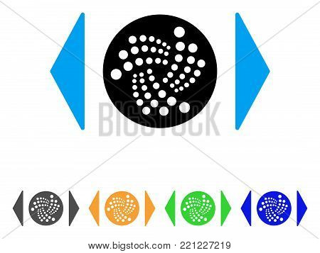 Regulate Iota icon. Vector illustration style is a flat iconic regulate iota symbol with gray, yellow, green, blue color versions. Designed for web and software interfaces.