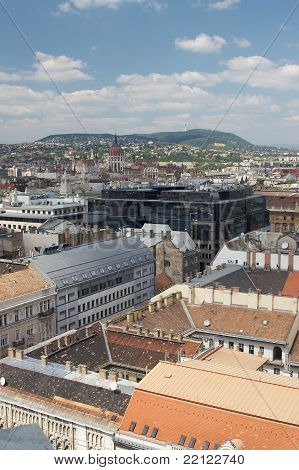 A panorama of Budapest
