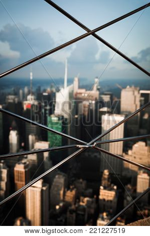 Fencing On The Observation Deck Of Empire State Building