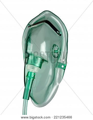 medical oxygen mask on a white background