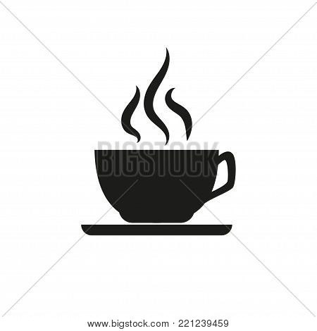 Cup of coffee. Hot drink. Invigorating. Delicious. For your design.