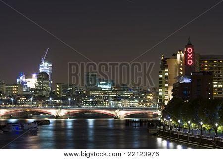 London, River Thames at Night