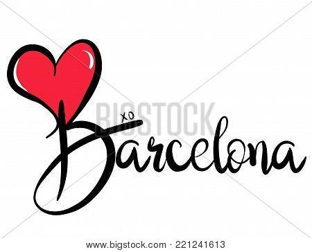 I Love Barcelona - Vector Graphic Illustration