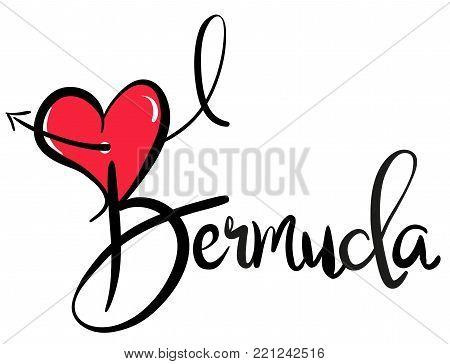I Love Bermuda - Vector Graphic Illustration