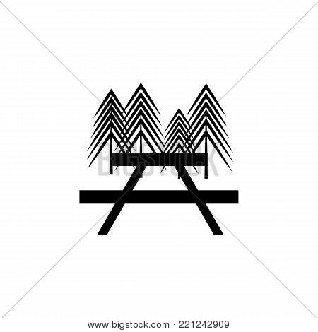 Picnic / Rest area icon on white background