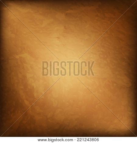 brown grunge wall for texture background, abstract  background border, gold background with vintage grunge background texture. old paper, web template background banner or header. Vector. Eps 10.