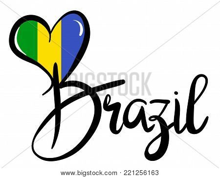 I Love Brazil - Vector Graphic Illustration