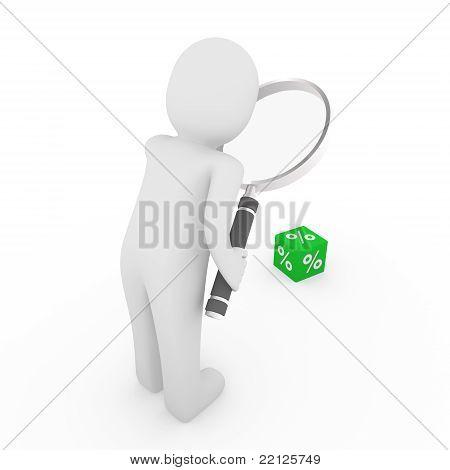 3D Man Sale Cube Loupe Percent