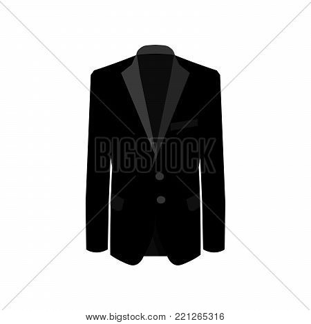 Black man suit on white background. Business suit, business, mens suit, man in suit. Vector illustration EPS10