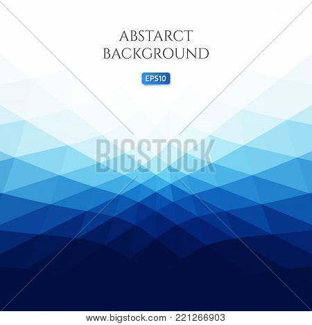Abstract background with curved geometric shapes. Bright shades of blue. The illusion of movement.