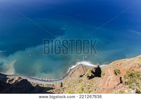 View From The Cabo Girao Viewpoint In Madeira, Portugal.