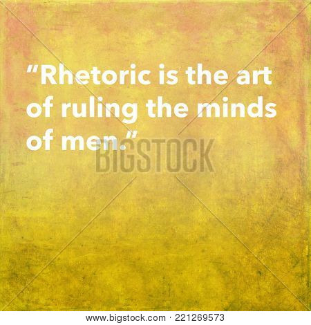 Inspirational quote by ancient Greek philosopher on textured background