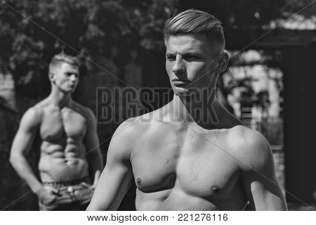 Muscular Serious Male Model