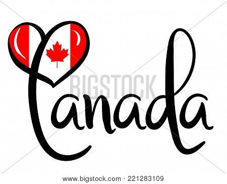 I Love Canada - Vector Graphic Illustration