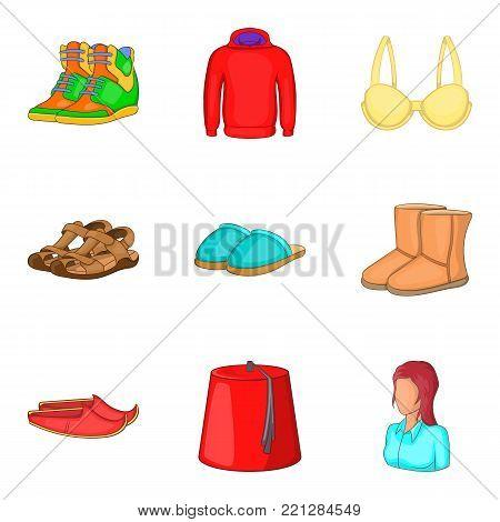 Bandage icons set. Cartoon set of 9 bandage vector icons for web isolated on white background