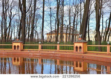 Menagerie pond in Summer Garden in St.Petersburg, Russia.