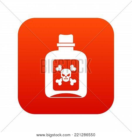 Poison icon digital red for any design isolated on white vector illustration