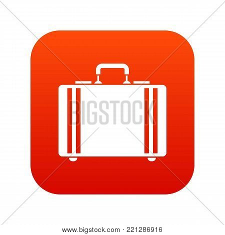 Diplomat icon digital red for any design isolated on white vector illustration