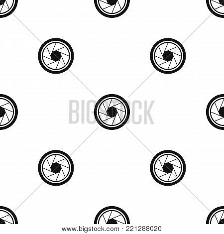 Photographic objective pattern repeat seamless in black color for any design. Vector geometric illustration
