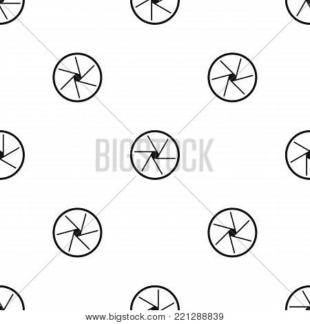 Round objective pattern repeat seamless in black color for any design. Vector geometric illustration