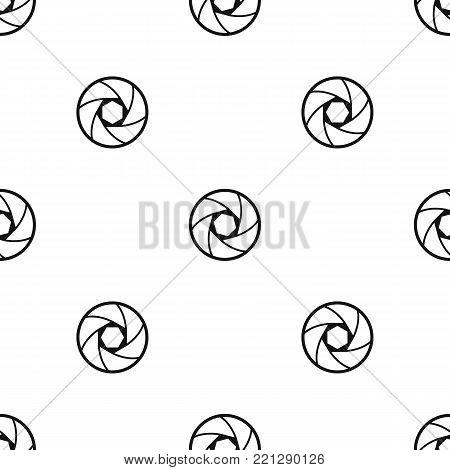 Professional objective pattern repeat seamless in black color for any design. Vector geometric illustration