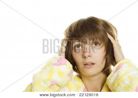 Female In A Housecoat