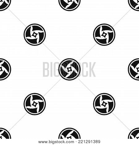 Covered objective pattern repeat seamless in black color for any design. Vector geometric illustration