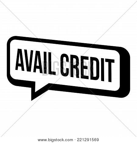 Avail credit icon. Simple illustration of avail credit vector icon for web.