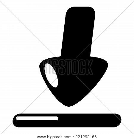 Download icon. Simple illustration of download vector icon for web