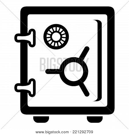 Safe icon. Simple illustration of safe vector icon for web.